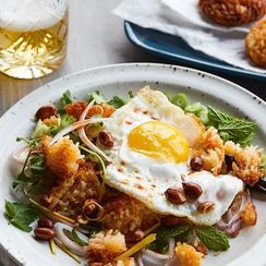 Chrissy Teigen's Crispy Rice Salad With Fried Eggs