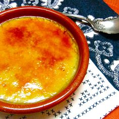Lemon Scented Almond Milk Custard- Crema Catalana