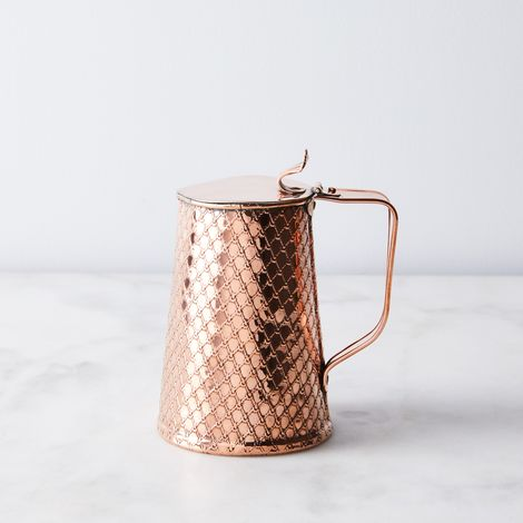 Vintage Copper JS&S Embossed Creamer Jug, Late 19th Century