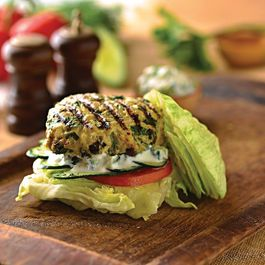 Greek Chicken Burgers with Tzatziki Sauce