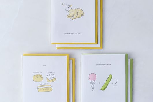 Food-Inspired Baby Cards (Pack of 6)