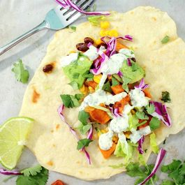 Honey Lime Sweet Potato and Black Bean Tacos