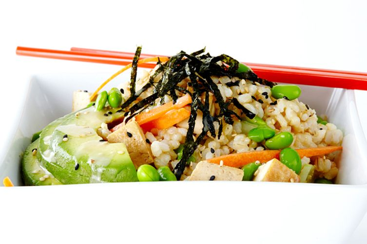 Sushi Salad with Tofu and Brown Rice
