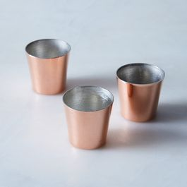 Vintage Copper Pudding Molds, Late 19th Century (Set of 3)