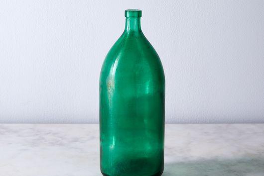 Vintage Found Green Seltzer Vase