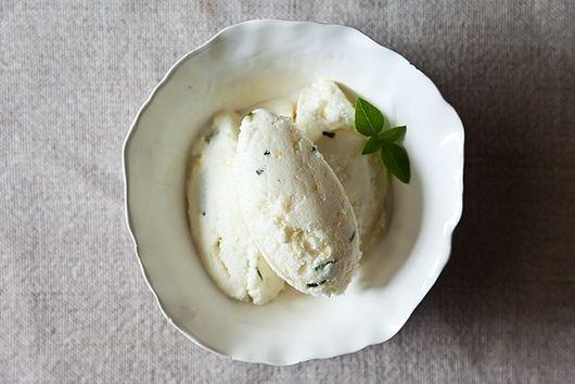 Lemon Basil Sherbet