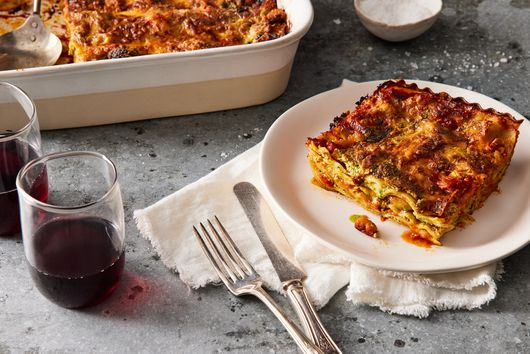 Weeknight Lasagna With Any-Greens Pesto & White Beans