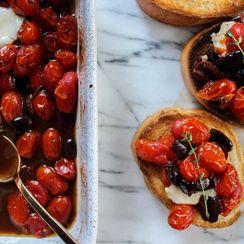 Roasted Tomatoes & Kalamata Olives with Thyme