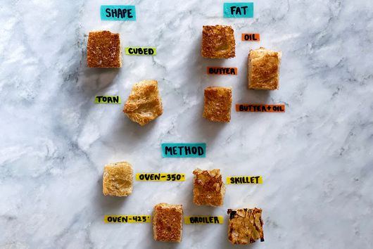 The Absolute Best Way to Make Croutons, According to So Many Tests