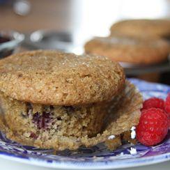 Gluten Free Lemon Berry Olive Oil Muffins