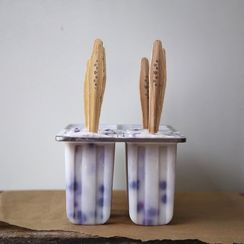 Ginger Infused Creamy Coconut and Blueberry Pops