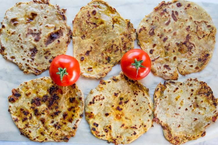 Paratha Stuffed With Savory Caramelized Tomato