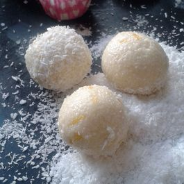 Lemon and Coconut White chocolate truffles