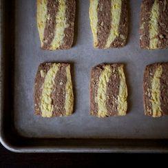 Cardamom,Orange and Chocolate Ribbon Cookies