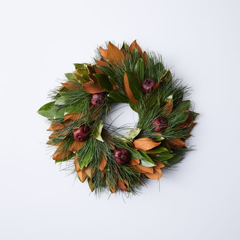 Magnolia, Pine & Pomegranate Wreath
