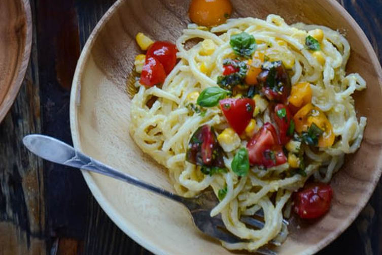 Vegan Sweet Corn Pasta