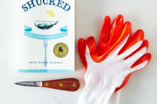 Oyster Glove, Knife, and Signed Copy of Shucked