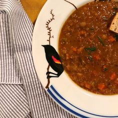 Red Lentil Soup with Pancetta