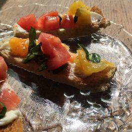 Tomato Bruschetta (on Hot Buttered Rye Toast)