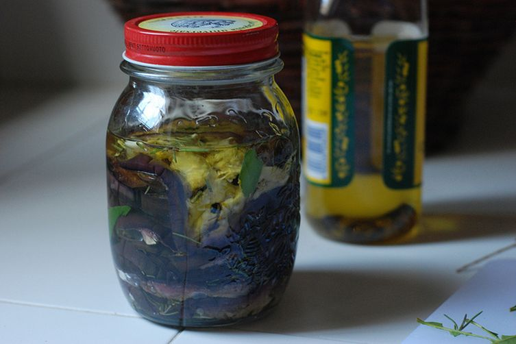 Italian Pickled Eggplant