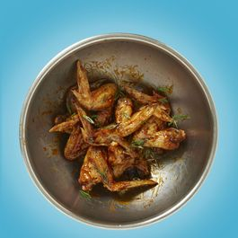 CHA! Hoisin Glazed Roasted Chicken Wings