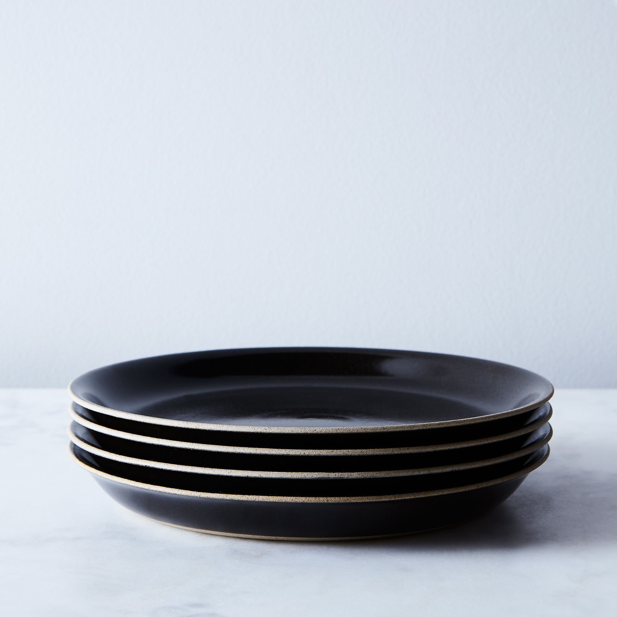 9abc709b e336 4545 a6f0 060855e05395  2017 0907 kinto black ceramic dinnerware set of 4 plates silo rocky luten 002