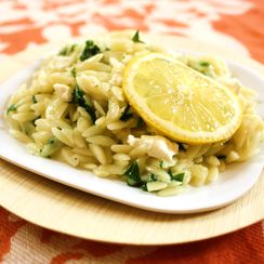 Orzotto with Spring Ramps & Goat Cheese