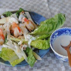 Celeriac Salad with Ginger Shrimp