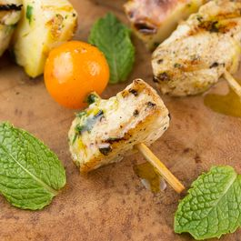 Greek Chicken and Veggie Skewers