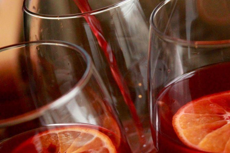 Sweet & Spicy Red Wine Sangria (aka sangria de noche buena)