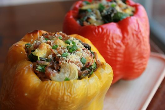 Farro & Veggie Stuffed Peppers