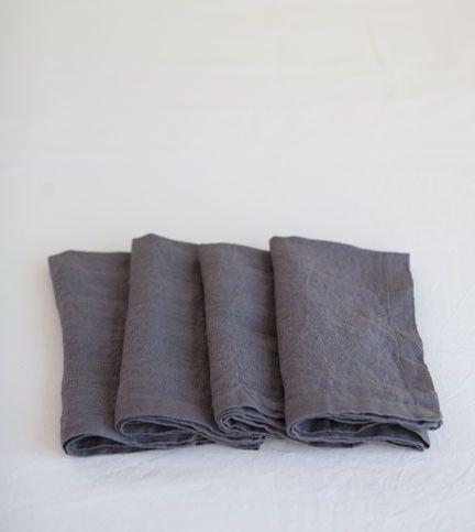 Charcoal linen napkins
