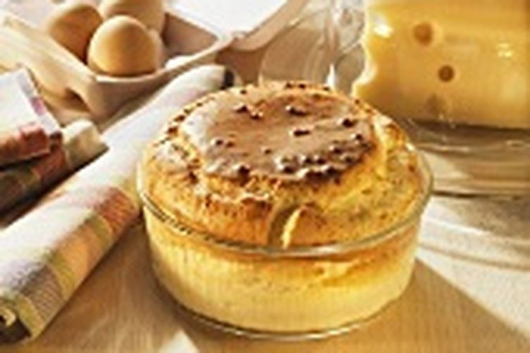 Mushroom and Cheese Soufflé