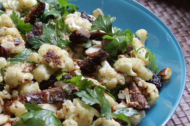 Spiced Cauliflower, Pickled Fig, and Almond Salad