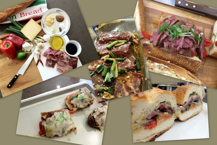 Marinated Skirt Steak Sandwiches