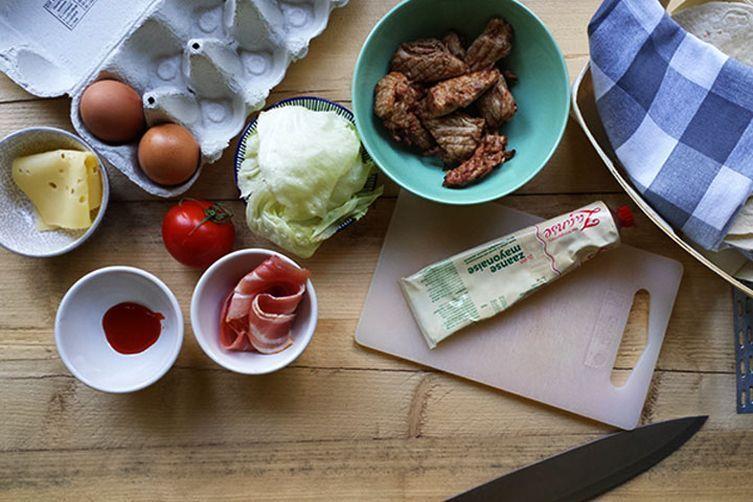 Divine Turkey Tortilla club sandwich