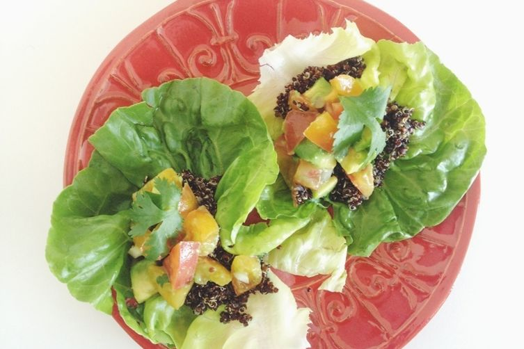 Heirloom Tomato-Avocado-Quinoa Lettuce Wraps