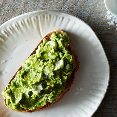 Avocado, Feta, and Mint on Sourdough Toast