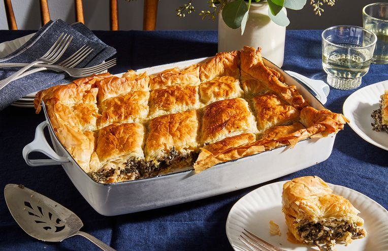 Spanakopita Gets a Southern Twist Thanks to Collard Greens & Jalapeños