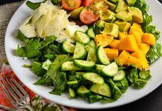 Mango, Avocado, Cucumber, And Cherry Tomato Salad
