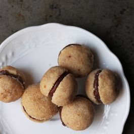 Baci di Dama (Chocolate-Filled Hazelnut Cookies)