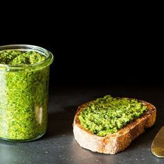 Arugula and Garlic Scape Pesto