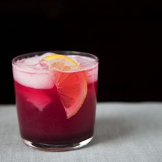 Concord Grape and Lemon Soda