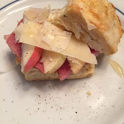 Parmesan Rosemary Biscuits with Ham and Apple