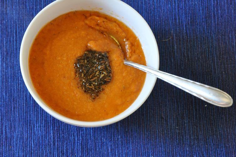 Tomato Soup with Kala Jeera and Cumin Tadka