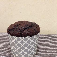 Vegan Chocolate Apple Muffins