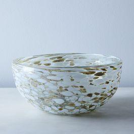 Glass Confetti Serving Bowl