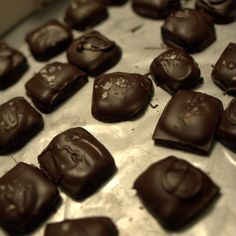 Salted Honey Caramels in Chocolate