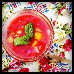 """Pretty in Pink"" Watermelon Gazpacho"