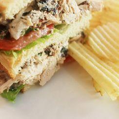 """Smokey """"Fried"""" Creole Turkey Salad Sandwich"""